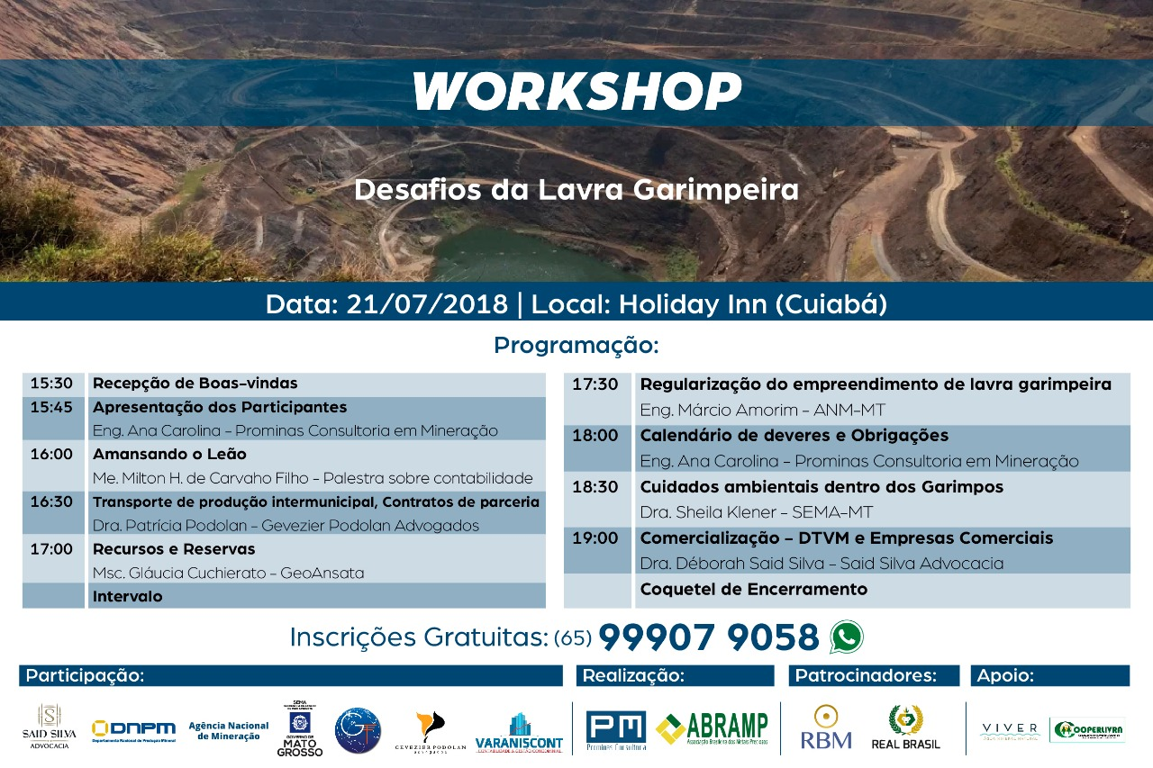 Workshop - Desafios da Lavra Garimpeira